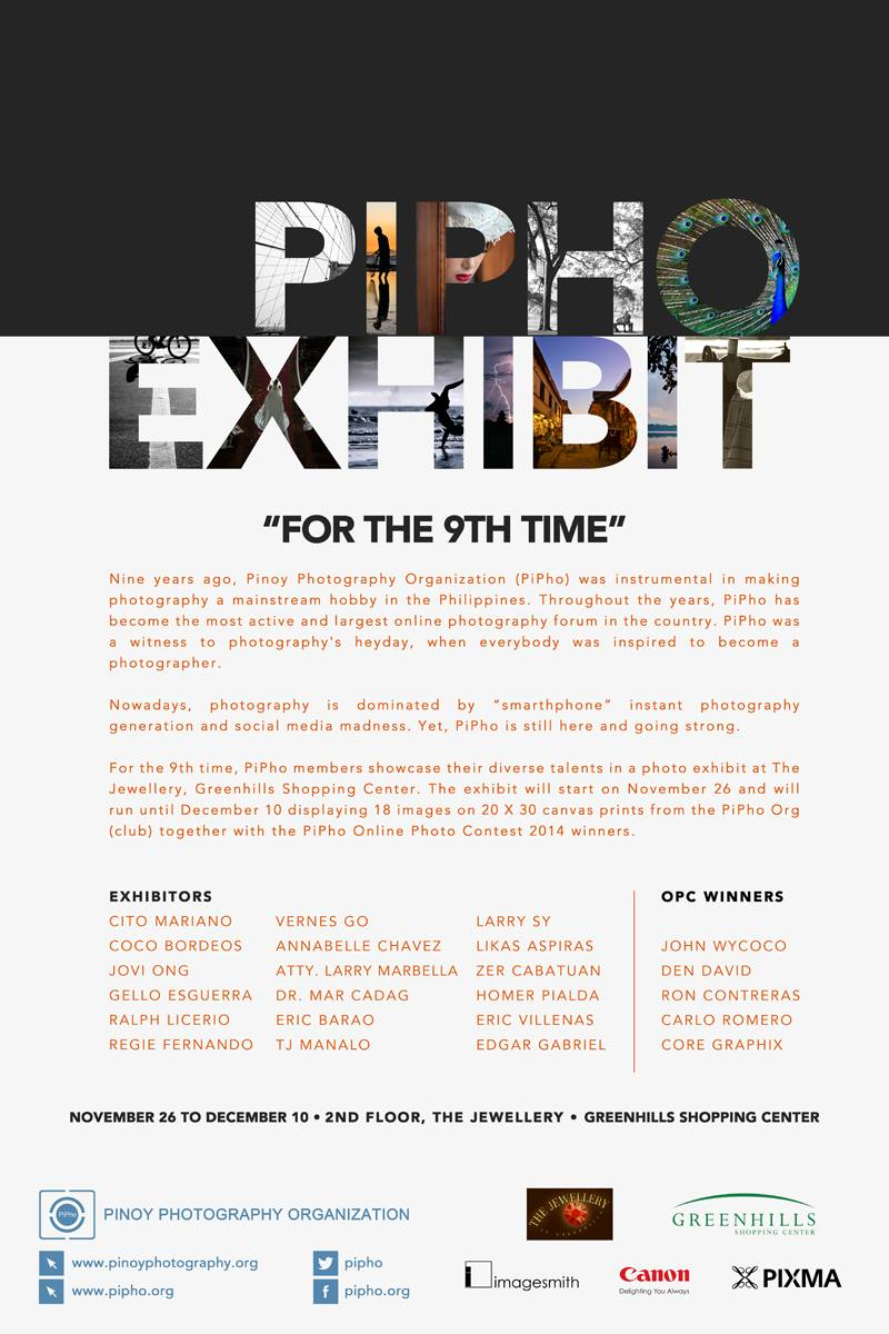 PiPho Photo Exhibit for 2014 at The Jewellery, Greenhills Shopping Center, San Juan, Philippines