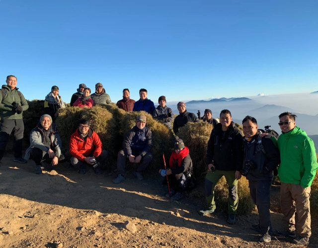 #PiPho14 at the summit of Mt. Pulag.
